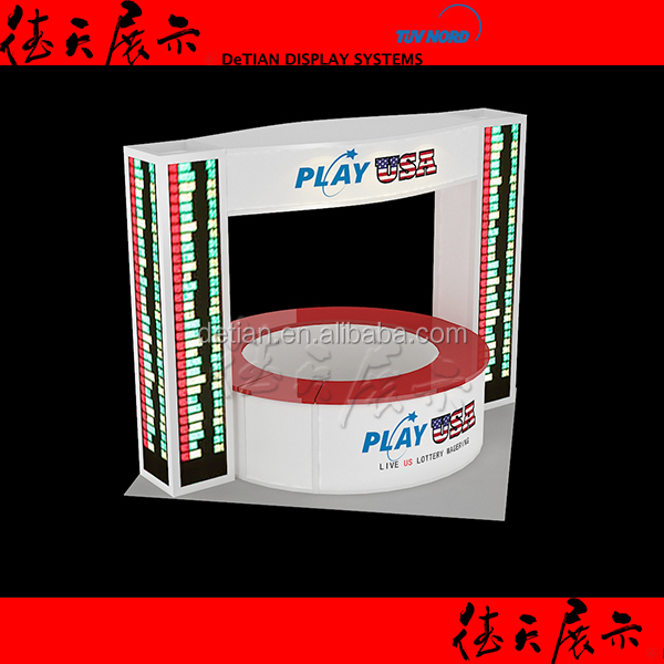 LED Kiosk 3x3 Exhibition Booth Design and Product Factory