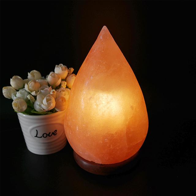 Crystal Himalayan Decoration Salt Rock Lamp With Wooden Base