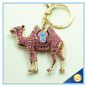 Animal Style Cute Camel Metal Key Chain Glod Plating Key Chain