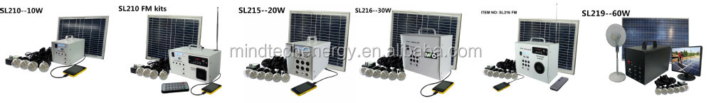 10w Panel Solar Home System Kit - Including Cell Phone Charger - 2 ...