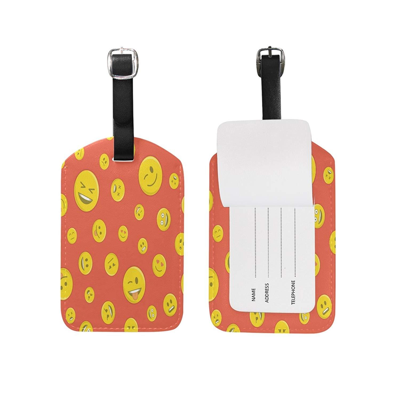 Saobao Travel Luggage Tag Kinds Navigation Icon PU Leather Baggage Suitcase Travel ID Bag Tag 1Pcs