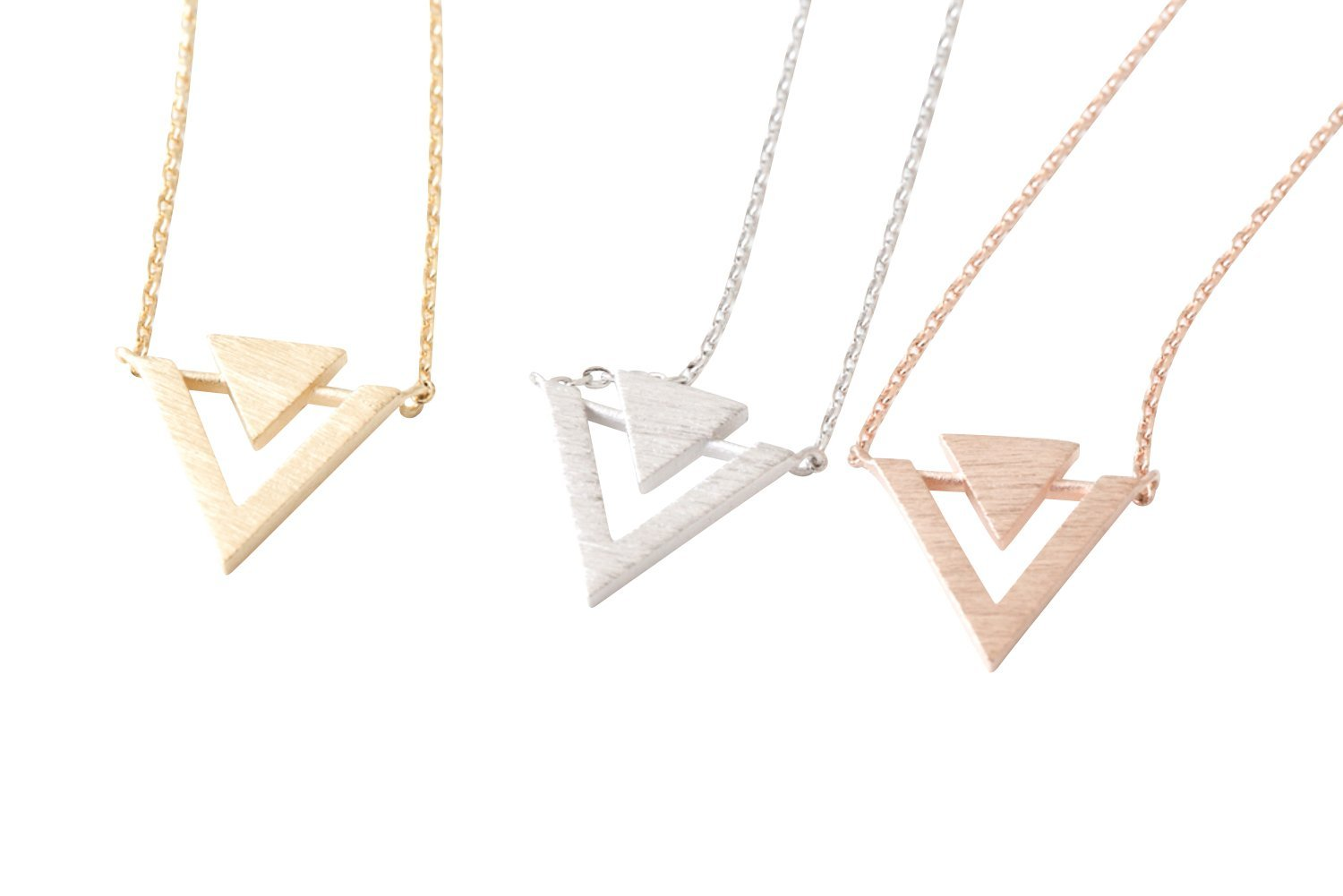 Unique Triangle Necklace-jz , triangle jewelry, triangle necklace, triangle shape jewelry, triangle shape necklace, triangle jewellry, geometric jewel