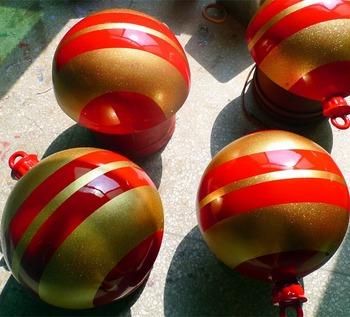large christmas ball decoration hand made fibreglass festival ballsglitter glass ball - Large Christmas Balls