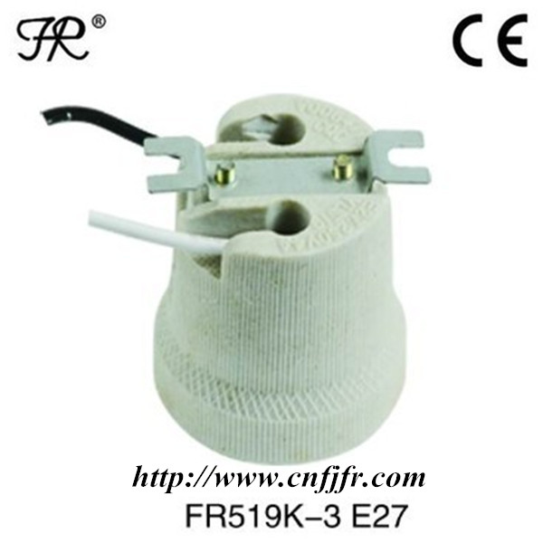types of e27 ceramic electric lamp holders with wire