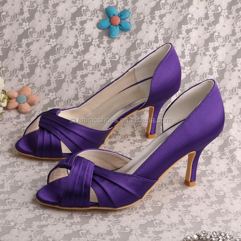 Perfecto Zapatos De Vestir De Color Púrpura Para Bodas Imagen ...