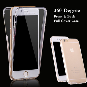 Body Full Coverage Case For Apple iPhone X SE 5S 5 6G 6 6S 7 8 Plus 360 Degrees Front+Back Gel TPU Silicon Crystal Soft Cover