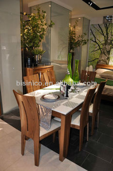 New Item-modern Design Wooden Home Dining Room Furniture Set-glass Top  Dining Table And Chairs,Moq:1set(b24008) - Buy Dining Room Furniture  Set,Modern ...