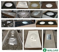 Hot Sale and High Quality Various granite&marble vanity tops with undermount ceramic sink