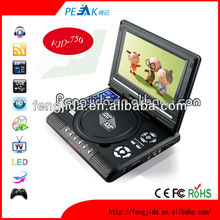270 degree rotatable DVD player cheapest DVD player with USB/FM support RMVB