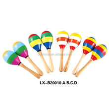 wholesale the christmas gift kids outdoor toys german musical instruments sand hammer wooden single maraca mini toys for kids