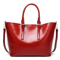 Women PU Leather Shoulder Bag Purse Handbag Leather Tote Bags