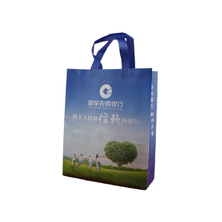 Guangzhou Factory Custom Logo Printing Reusable Heavy Duty AZO Free PP Non-Woven Tote Shopping Bag