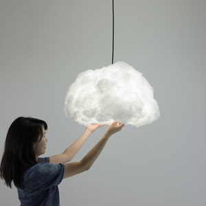 Nordic clouds pendant lights silk lamp clouds hanging light