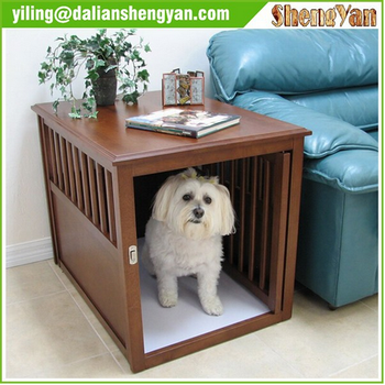 large indoor dog kennel wooden dog house with stairs
