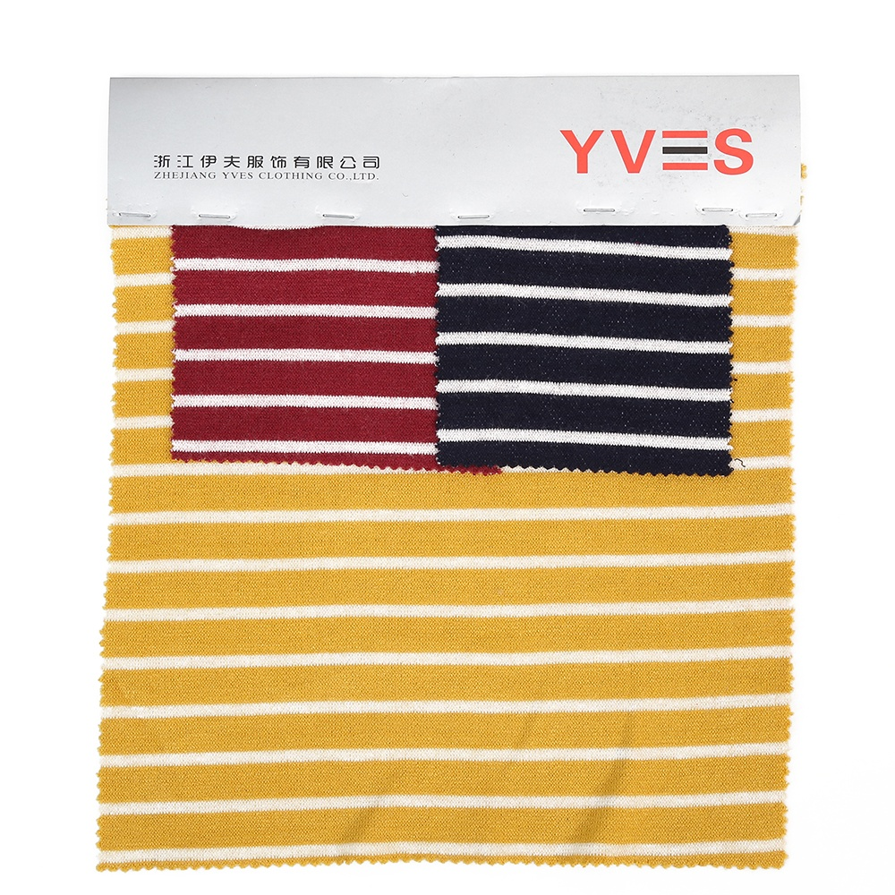 Latest design winter knitted clothing fabric cashmere striped fabric