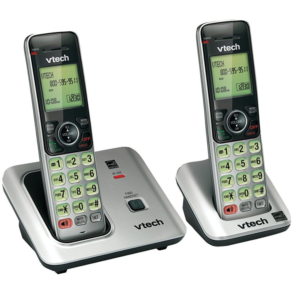 1 - DECT 6.0 Expandable Speakerphone with Caller ID (2-Handset System), DECT 6.0 expandable speakerphone system, Caller ID, VTCS6619-2