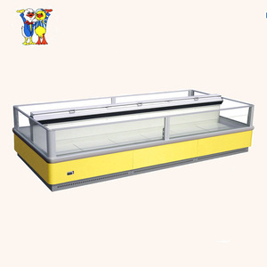 China Little Duck Frozen commercial island freezer case E7 INDIANA with CE certification