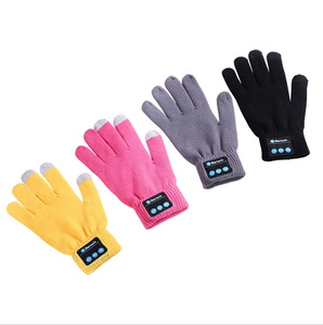 Rechargeable Wireless Bluetooth Gloves Winter Knit Warm Mittens Call Talking Touch Screen Gloves