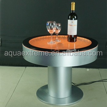 Exceptionnel Beautiful Battery Driver Round Bar Table ,Fantastic LED Light And Water  Bubble Moving Table