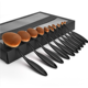 Wholesale price beauty needs 10pcs makeup brush set in golden color make up kit professional