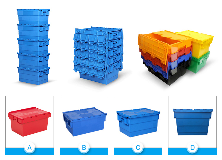Accept custom heavy duty large plastic moving turnover box for transportation