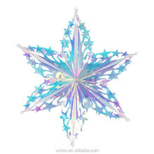 Umiss 16''/40cm Waterproof PEC Neon Six-pointed Star, Snowflake for Christmas,Outdoor decoration