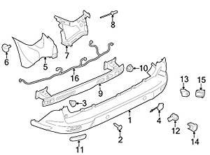 Ford Oem Tow Hook Cover Dt1z17k922ba Image 4