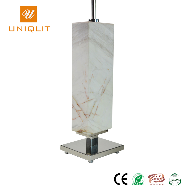 China Big Project Modern Chrome Marble Banquet Table Light For Guest Room