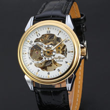 Мужские автоматические механические часы WINNER, роскошные повседневные спортивные мужские наручные часы из натуральной кожи с автоподзавод...(Китай)