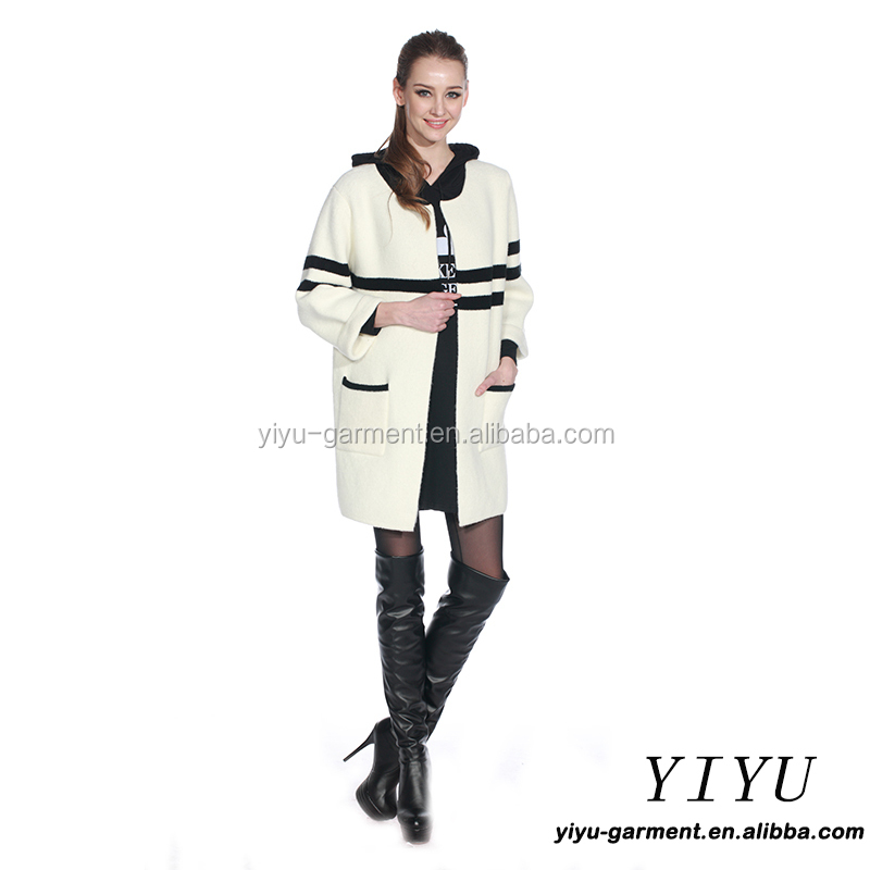 High Quality Knit white long Sweater Cardigan Womens