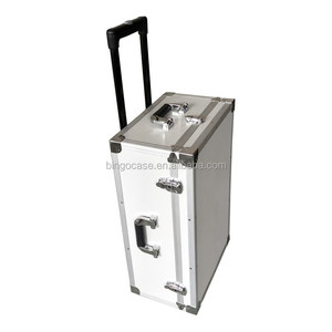 Aluminum Trolley Equipment Tool Case With Wheels and Handle