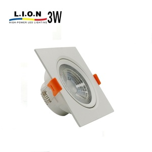 New product energy efficient square ceiling 3w down light led housing