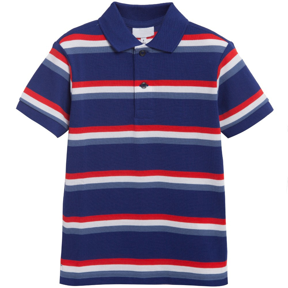 Navy blue red white stripe wholesale boys polo shirt buy for Red white striped polo shirt