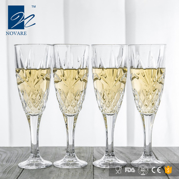 Luxury Wholesale High Stemmed Crystal Champagne Flute Glasses