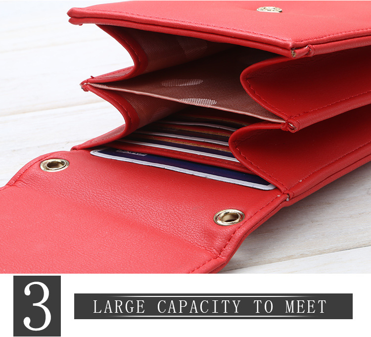 2018 New Arrived Design Baellerry Women's Fashion Multi-function Long Clutch Wallet With Shoulder Messenger Bag