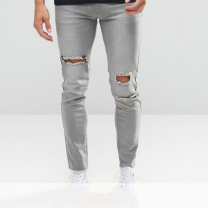 fashion oem jeans trousers top design ripped denim jeans pants for men