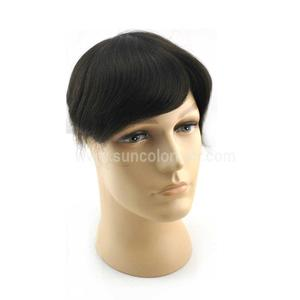 High quality human hair mono men's toupee/hairpiece/system