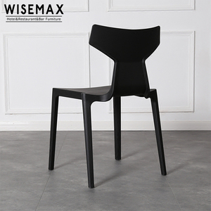 Wholesale polypropylene plastic stackable dining chair factory price