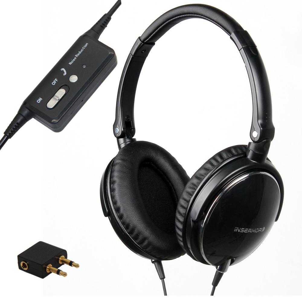 active noise cancelling headphones dj studio over ear headphone with mic super bass headband. Black Bedroom Furniture Sets. Home Design Ideas