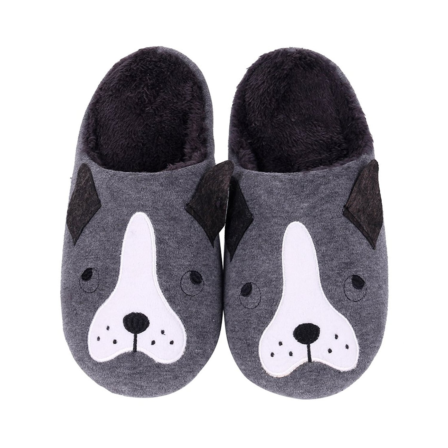 4e92ca8e0f54 Get Quotations · Cute Animal House Slippers Hedgehog Dog Family Indoor  Slippers Waterproof Sole Fuzzy Bedroom Slippers for Kids