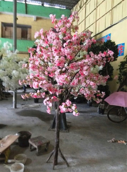 6ft Or 1 8m Tall Decorative Home Decor Plastic Artificial Indoor Plant Pink Silk Cherry Blossom