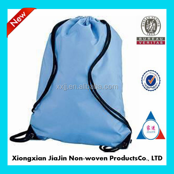 A cheap nylon silk waterproof shopping draw string bag
