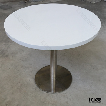 Elegant High Gloss White Acrylic Artificial Stone Table Tops/restaurant Dining Table