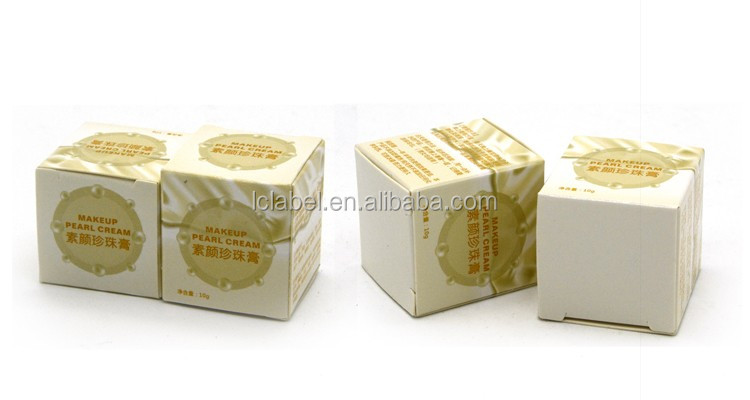 Empty cosmetic cream box packaging luxury cosmetic gift set packaging paper box