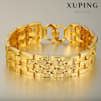 xuping imitation jewelry 24k dubai gold plated luxury designs men bracelet