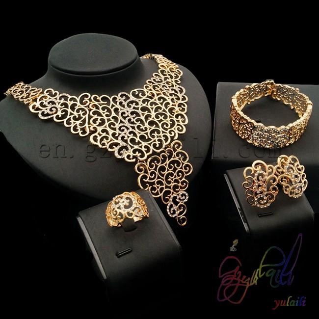 China High Quality 24k Gold Jewellery Set New Style Pakistani