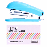 Mini cute candy color stapler set easy to carry stapler