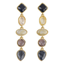Hot selling Street shot fashion European and American new resin gem earrings AG914