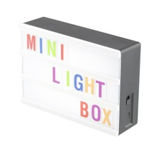 black shell mini light box A6 size cinema lightbox with letters