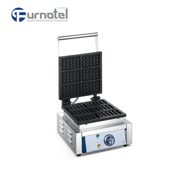 FURNOTEL Commercial Electric Egg Waffle Cone Maker Machine Custom Plate Multi-shapes FSEWM-0303A